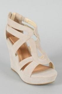 wedding photo - Lindy-66 Strappy Platform Wedge