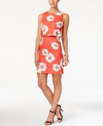 wedding photo - Ivanka Trump Sleeveless Floral-Print Popover Dress
