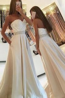 wedding photo - Simple Sweetheart Sleeveless Floor