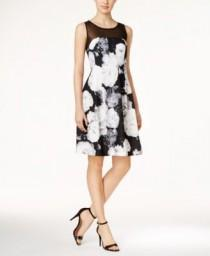 wedding photo - Calvin Klein Floral-Print Fit & Flare Dress