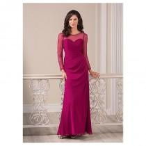 wedding photo - Delicate Tulle & Chiffon Bateau Neckline Sheath Mother of the Bride Dresses With Beadings - overpinks.com