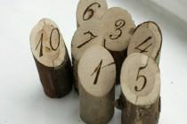 wedding photo - 10 Wooden Table Numbers Rustic Wedding Table Numbers Free Standing Natural Wood Table Numbers Custom Table Numbers Woodland Wedding Decor