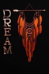 wedding photo - Arrow Dreamcatcher Moon Dreamcatcher Orange dreamcatcher sun dreamcatcher copper dream catchers native american Indian talisman boho decor