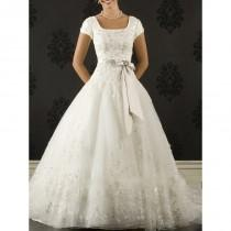 wedding photo - Beautiful A-Line/Princess Organza Modest Wedding Dresses In Canada Wedding Dress Prices - dressosity.com