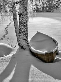wedding photo - Bath And Snowy Rowboat