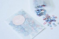 wedding photo - Pastel Confetti With Free Sticker Tutorial