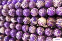 wedding photo - purple emperor stone round beads - orange imperial jasper gemstone - red sea sediment jasper beads - orange gemstone beads - 15inch