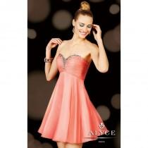 wedding photo - Beaded Ruched Strapless Dress by Alyce Sweet 16 3598 - Bonny Evening Dresses Online