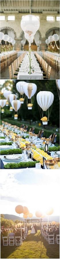 wedding photo - 16 Romantic Wedding Decoration Ideas With Balloons - Page 3 Of 3