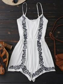 wedding photo - Cami Floral Embroidered Romper