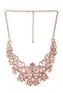 wedding photo - Regal Damask Bib Necklace