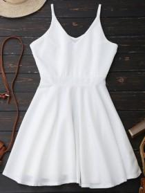 wedding photo - Spaghetti Straps Skater Dress