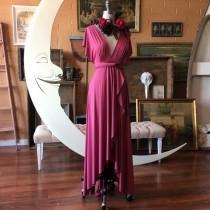 wedding photo - Peony Rose Tulip Cut Infinity Wrap Dress. Bohemian Bridal, Beach Wedding, bridesmaids, maternity - Hand-made Beautiful Dresses