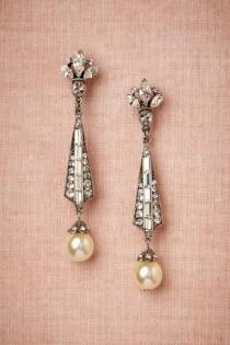 wedding photo - BHLDN's Ben-Amun Spire Earrings In Pearl