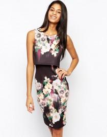 wedding photo - Lipsy 2 In 1 Floral Printed Bodycon Dress At Asos.com
