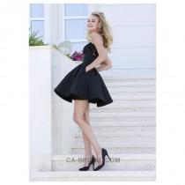 wedding photo - 2017 Unique Spaghetti Straps A-line/Princess Mini/Short Pockets Homecoming Dress - dressosity.com