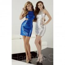 wedding photo - Black Hannah S 27064 - Short Cut-outs Sequin Sexy Dress - Customize Your Prom Dress