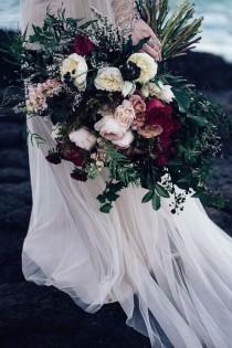 wedding photo - Windswept Seaside Elopement Inspiration