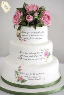 wedding photo - Literary Themed Wedding Cake