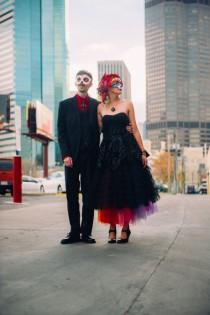 wedding photo - Insanely Colourful & Macabre Fiesta Wedding