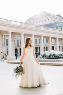 wedding photo - Elegant and Simple Inspiration for a Paris Elopement