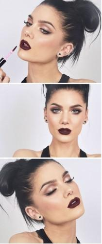 wedding photo - Smokey Eyes and Dark Lips