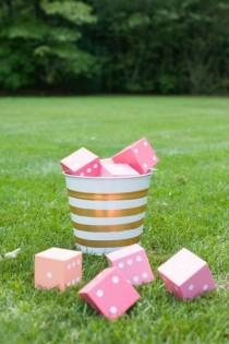 wedding photo - DIY Yard Yahtzee