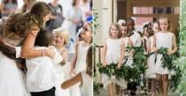 wedding photo - Teacher Asks Class To Be Flower Girls And Ring Bearers At Her Wedding