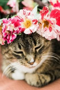 wedding photo - DIY Rose Flower Crown
