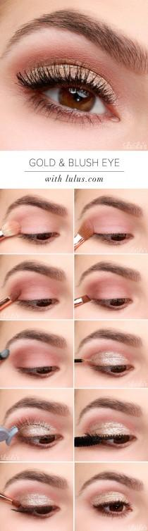 wedding photo - Gold And Blush Eye Tutorial