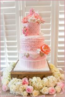 wedding photo - Round Wedding Cakes