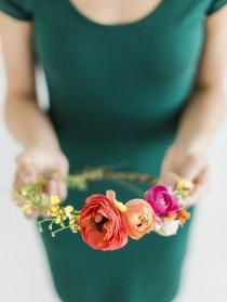 wedding photo - DIY Summer Floral Halo