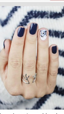 wedding photo - Navy Nails