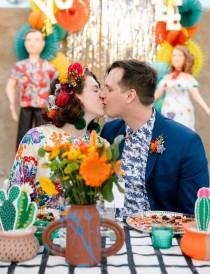 wedding photo - Colorful   DIY Fiesta-Inspired Desert Wedding Celebration — Part 2