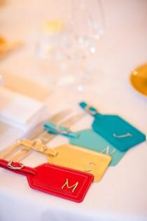 wedding photo - Luggage Tag Favors
