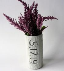 wedding photo - Custom Wedding Date Vase
