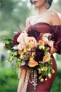 wedding photo - Red And Gold Spanish Wedding Ideas
