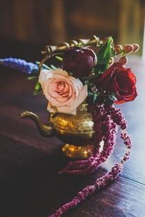 wedding photo - Jewel Toned Barn Wedding Inspiration