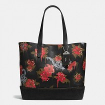 wedding photo - Gotham Tote In Pebble Leather With Wild Lily Print
