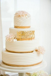 wedding photo - Wedding Cake Inspiration - Photo: K. Thompson Photography