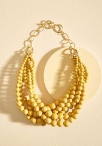 wedding photo - Burst Your Bauble Necklace In Mustard