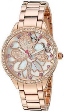 wedding photo - Details About Betsey Johnson Women''s BJ00572-01 Analog Display Quartz Rose Gold Watch