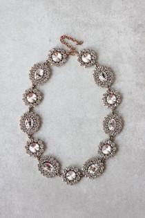 wedding photo - Crystal Bloom Statement Necklace