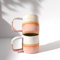 wedding photo - Handmade Ceramic Blush Stripe Mug