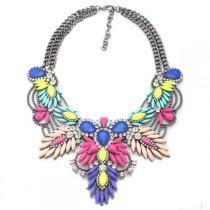 wedding photo - Kalista Statement Necklace - Colorful