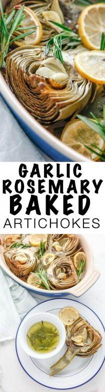 wedding photo - Garlic Rosemary Baked Artichokes