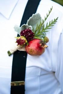 wedding photo - Beautiful Pomegranate Wedding Arrangements And Ideas