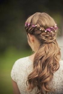 wedding photo - Wedding Hairstyles Flower Crown
