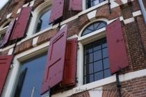 "wedding photo - Amsterdam Photography, Fine Art Prints and Mounted, Amsterdam Houses Windows, Travel Photography - ""Red Wooden Window Pain"""