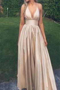 wedding photo - Hater V Neck Long Elegant Prom Dress Evening Gowns Party Dresses LD246